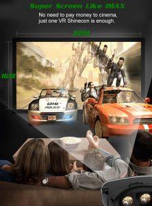 תצוגת משקפי מציאות מדומה תלת מימד